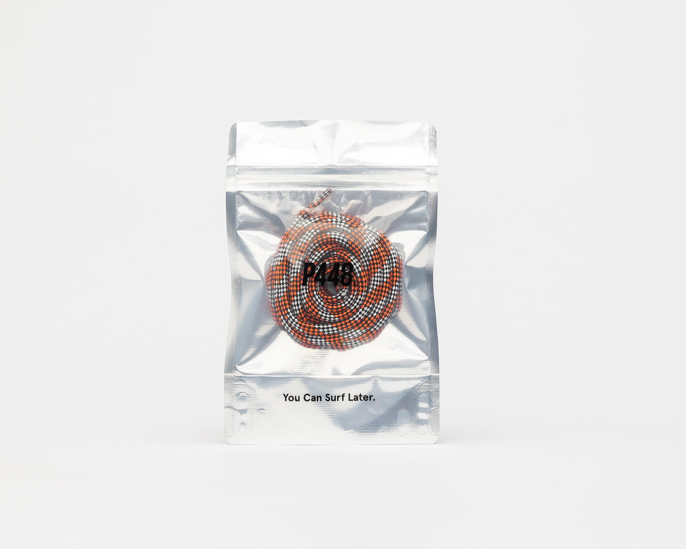 P448 Orange / Grey Shoe Lace - In Packaging