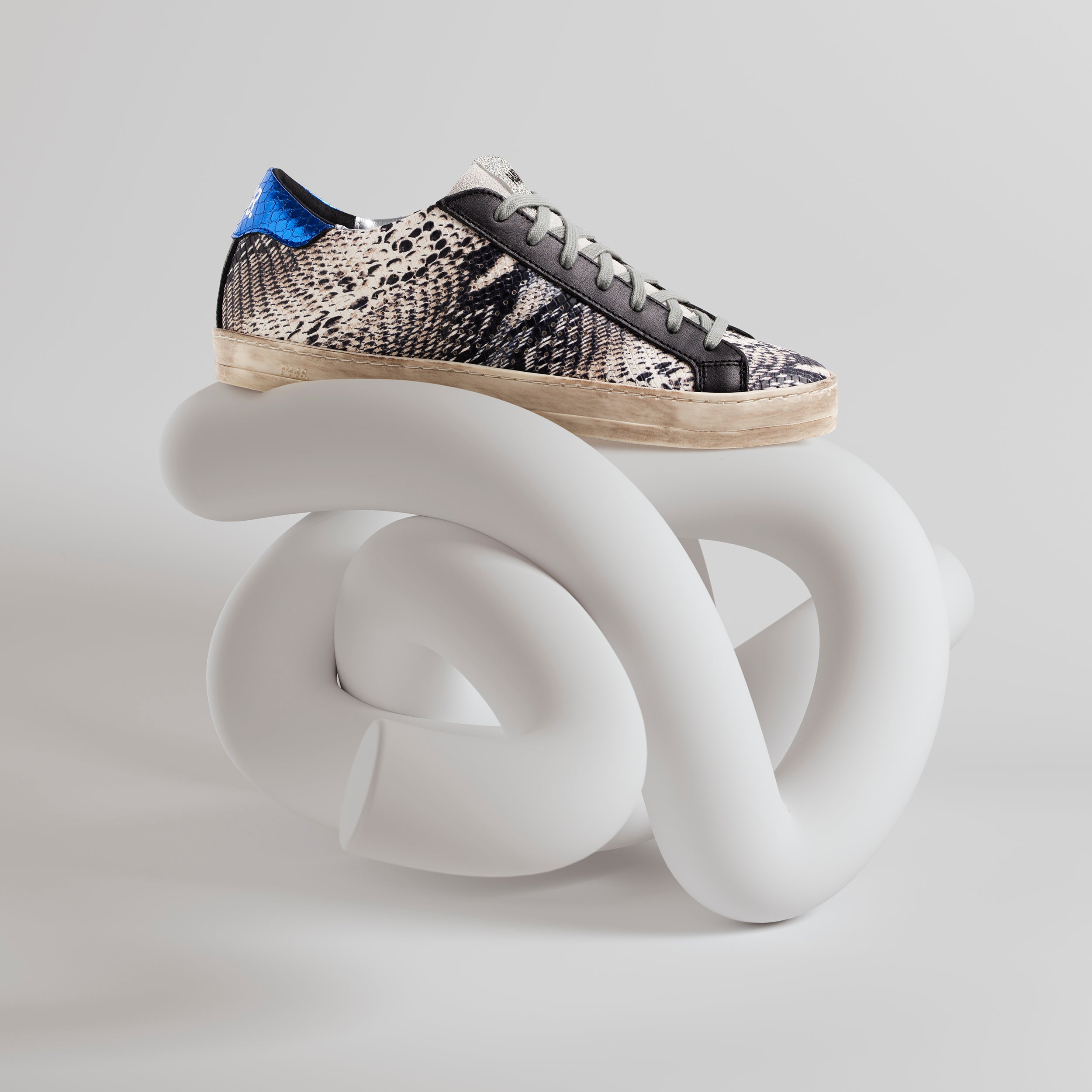 John Low-Top Sneaker in Twister Python - Side