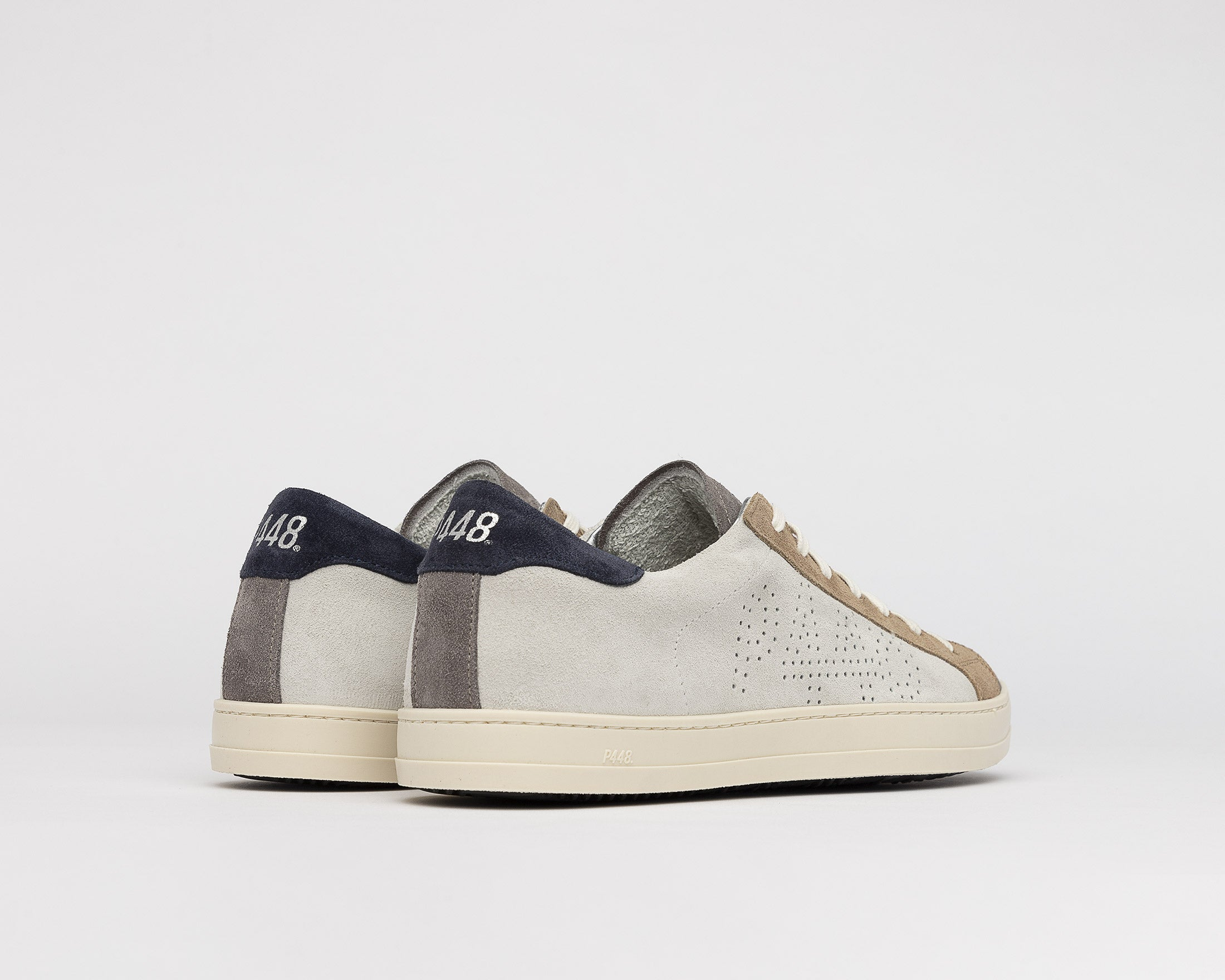 John Low-Top Sneaker in Grey Suede - Back