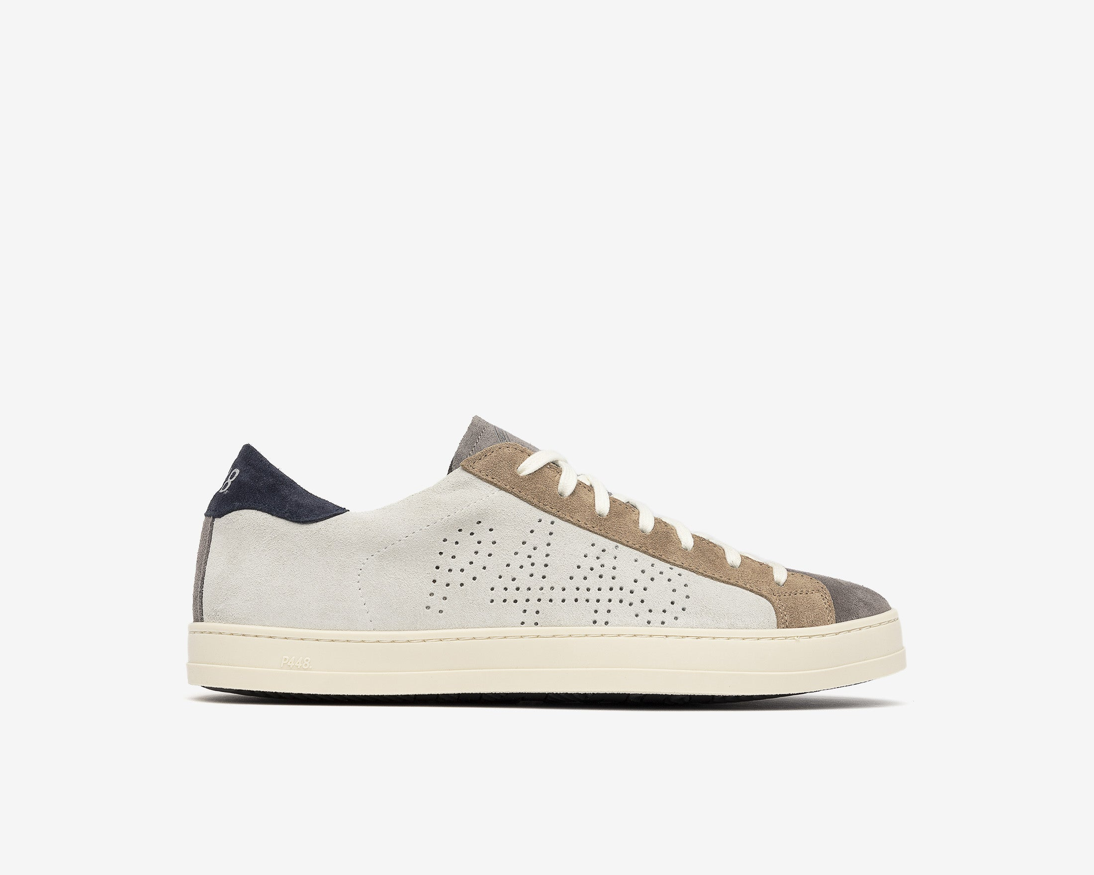 John Low-Top Sneaker in Grey Suede - Profile