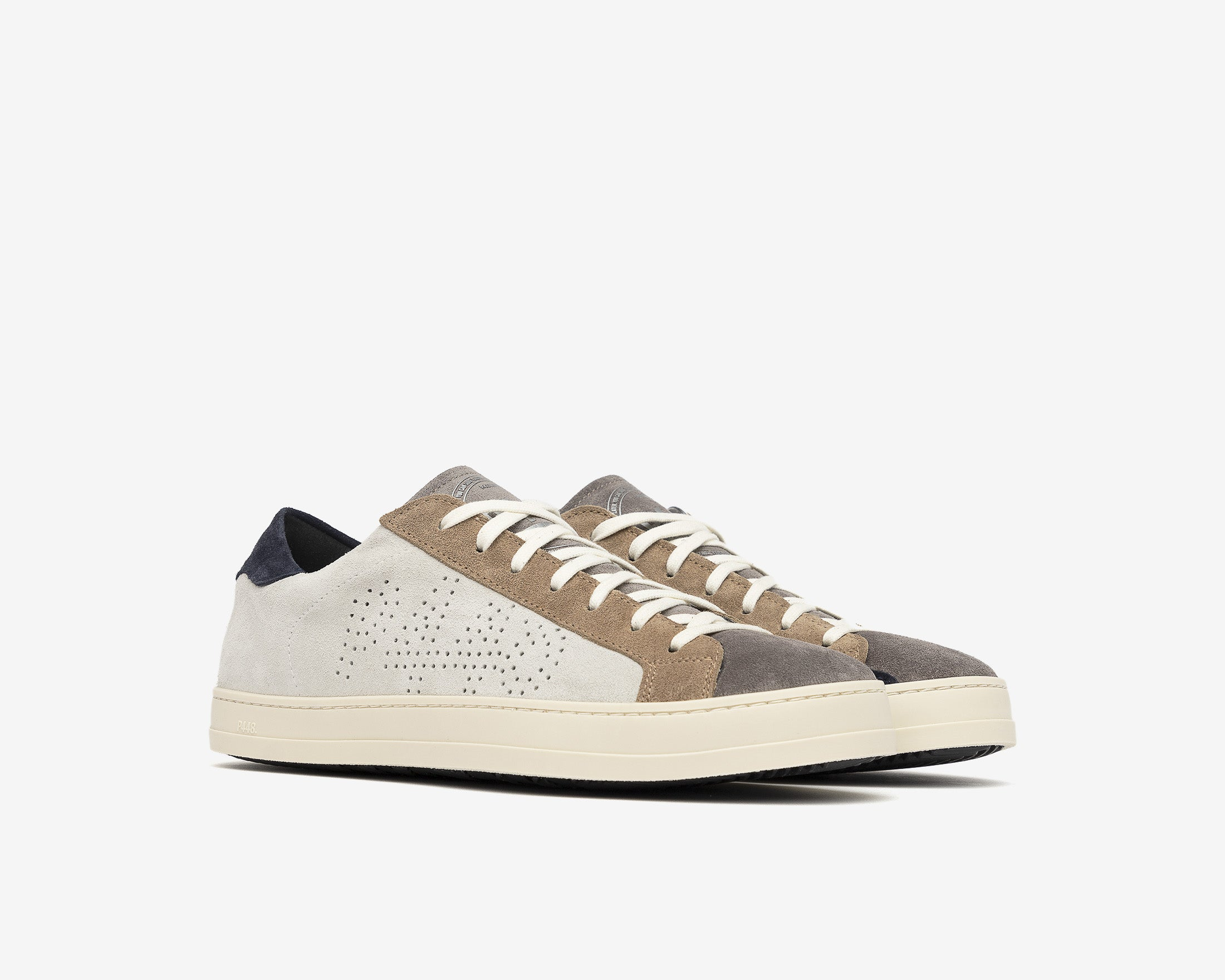 John Low-Top Sneaker in Grey Suede - Side