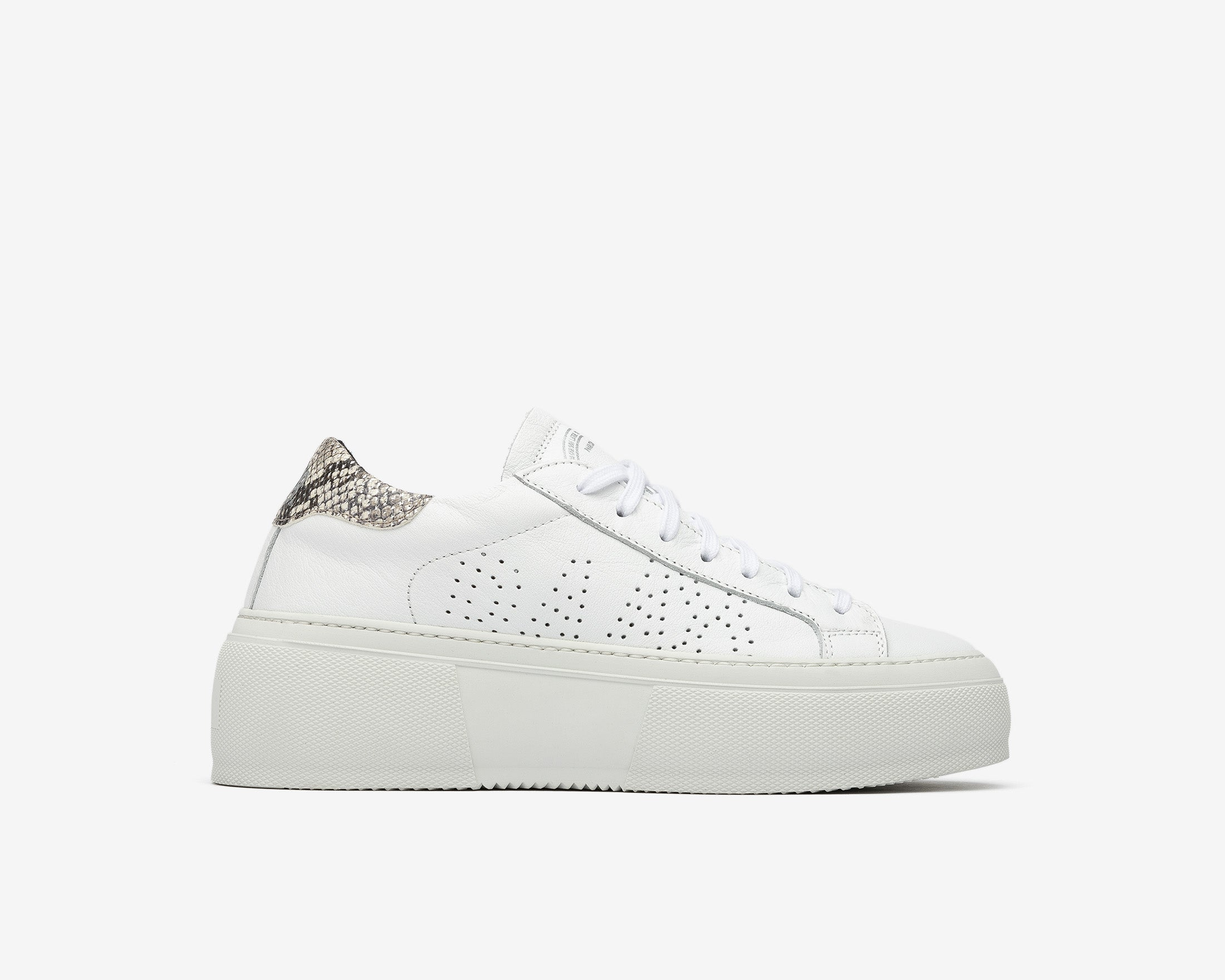 Louise Platform Sneaker in Silver Python - Profile