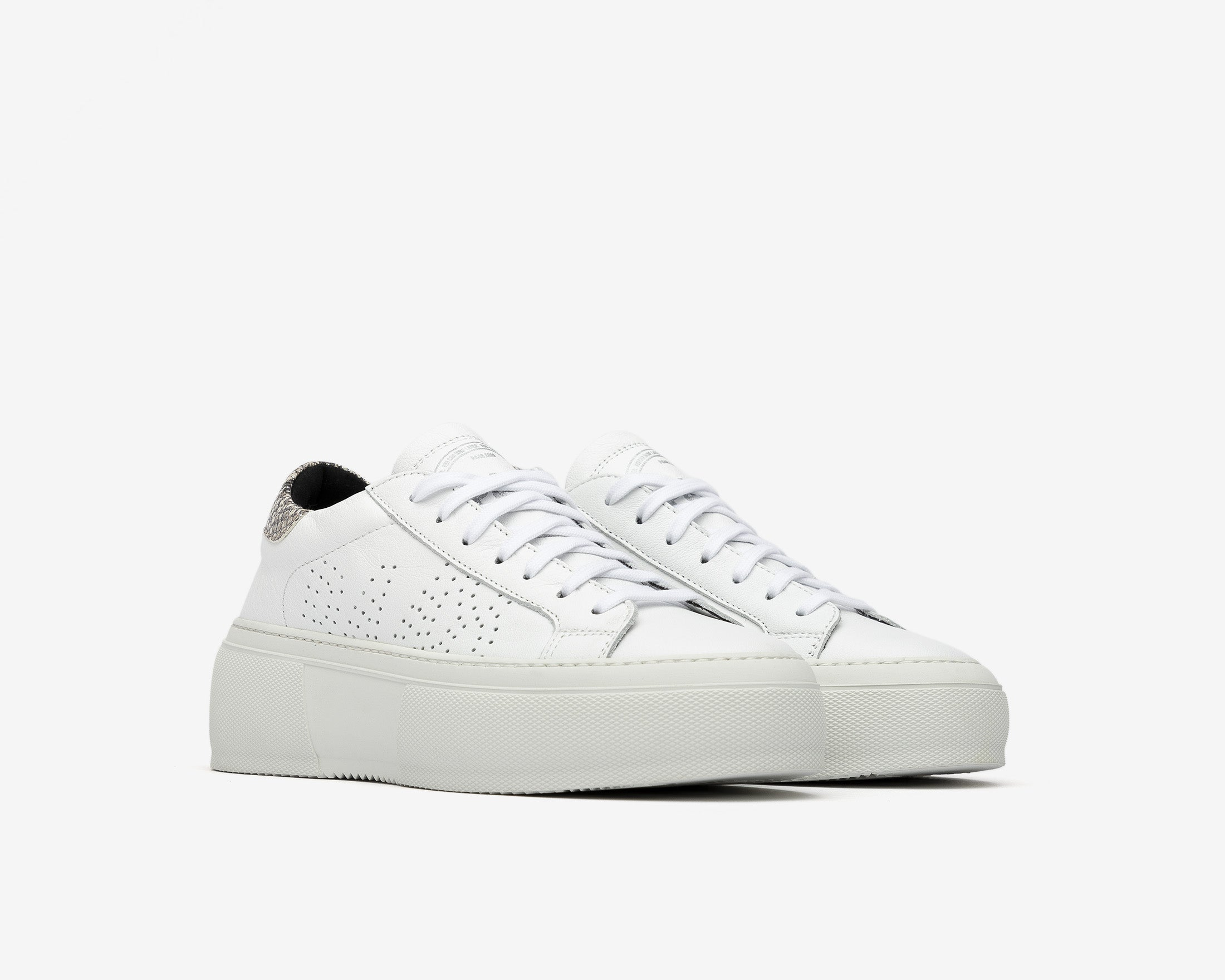 Louise Platform Sneaker in Silver Python - Side