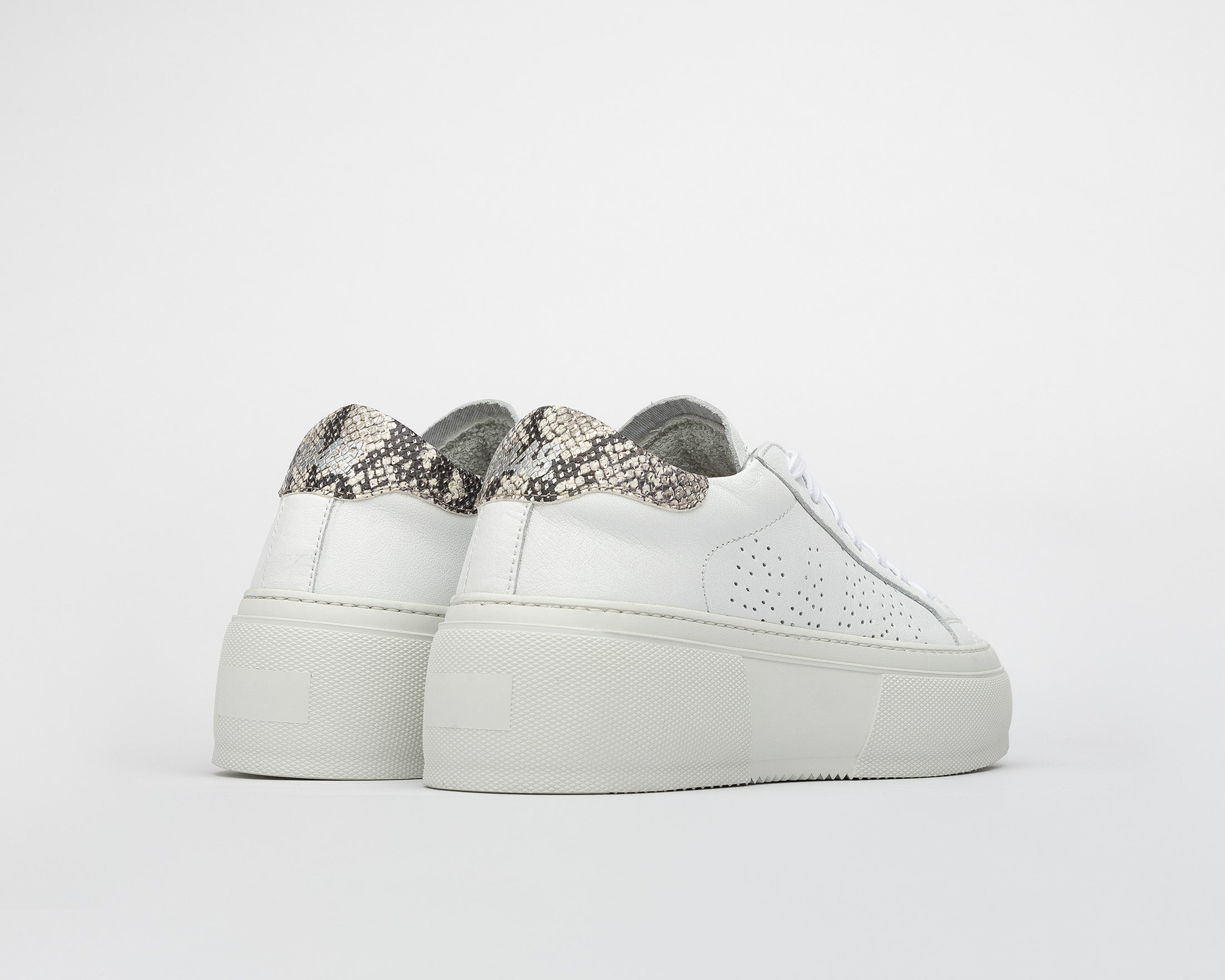 Louise Platform Sneaker in Silver Python - Back