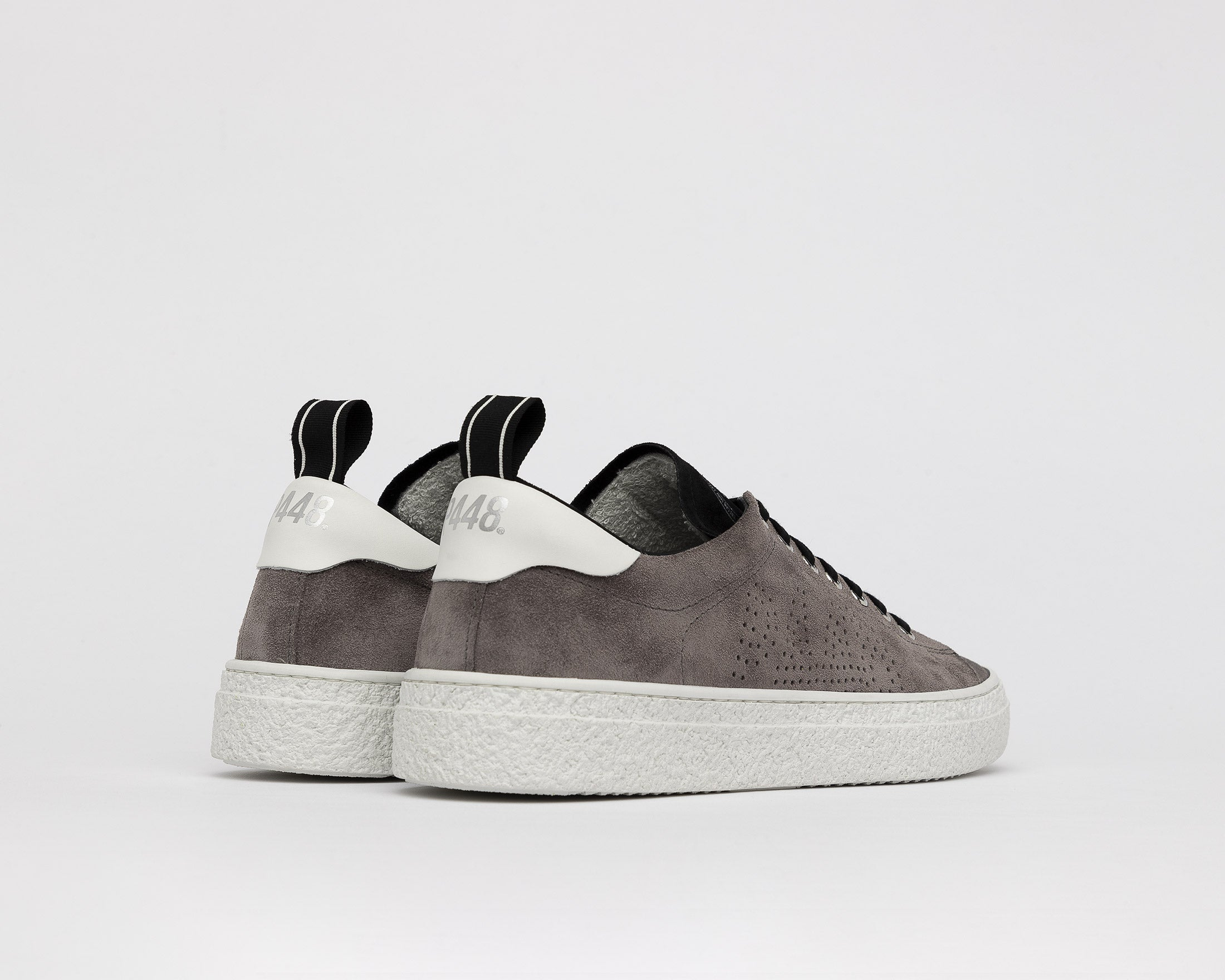 Shane Slip-on Sneaker in Anthracite Suede - Back