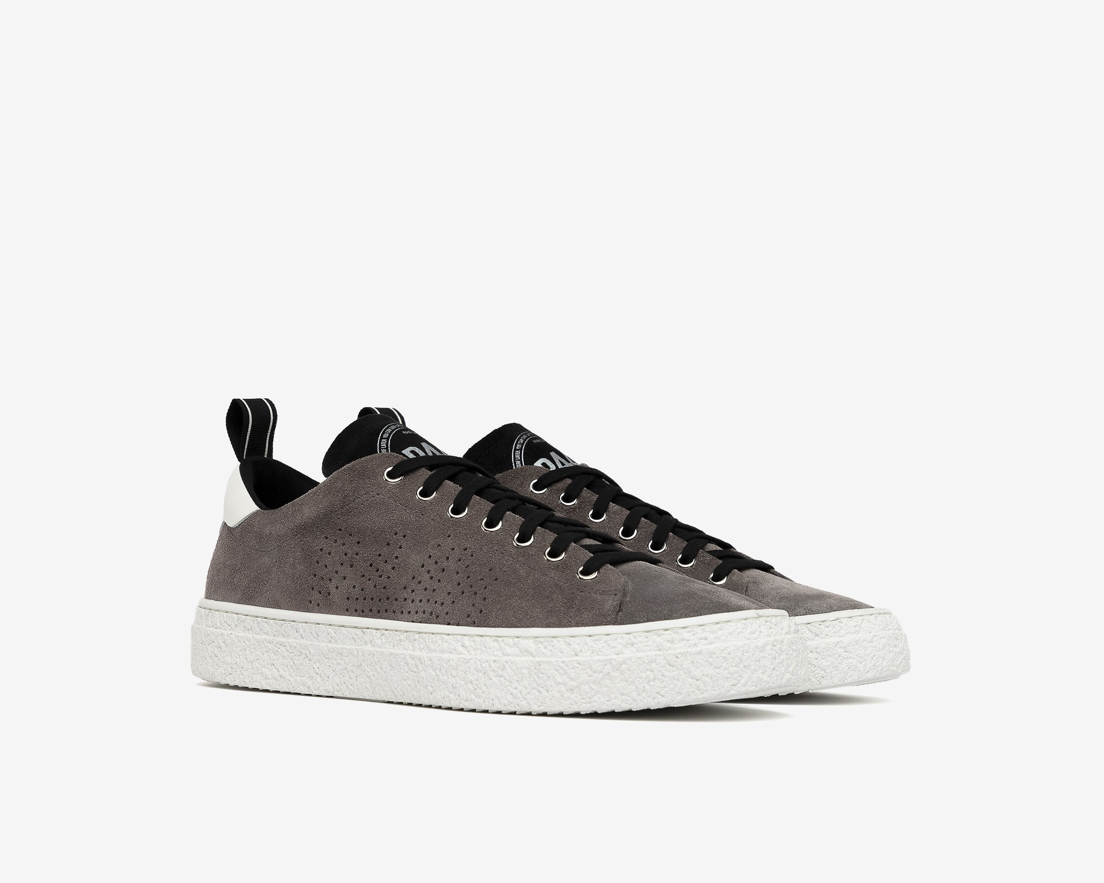 Shane Slip-on Sneaker in Anthracite Suede - Side