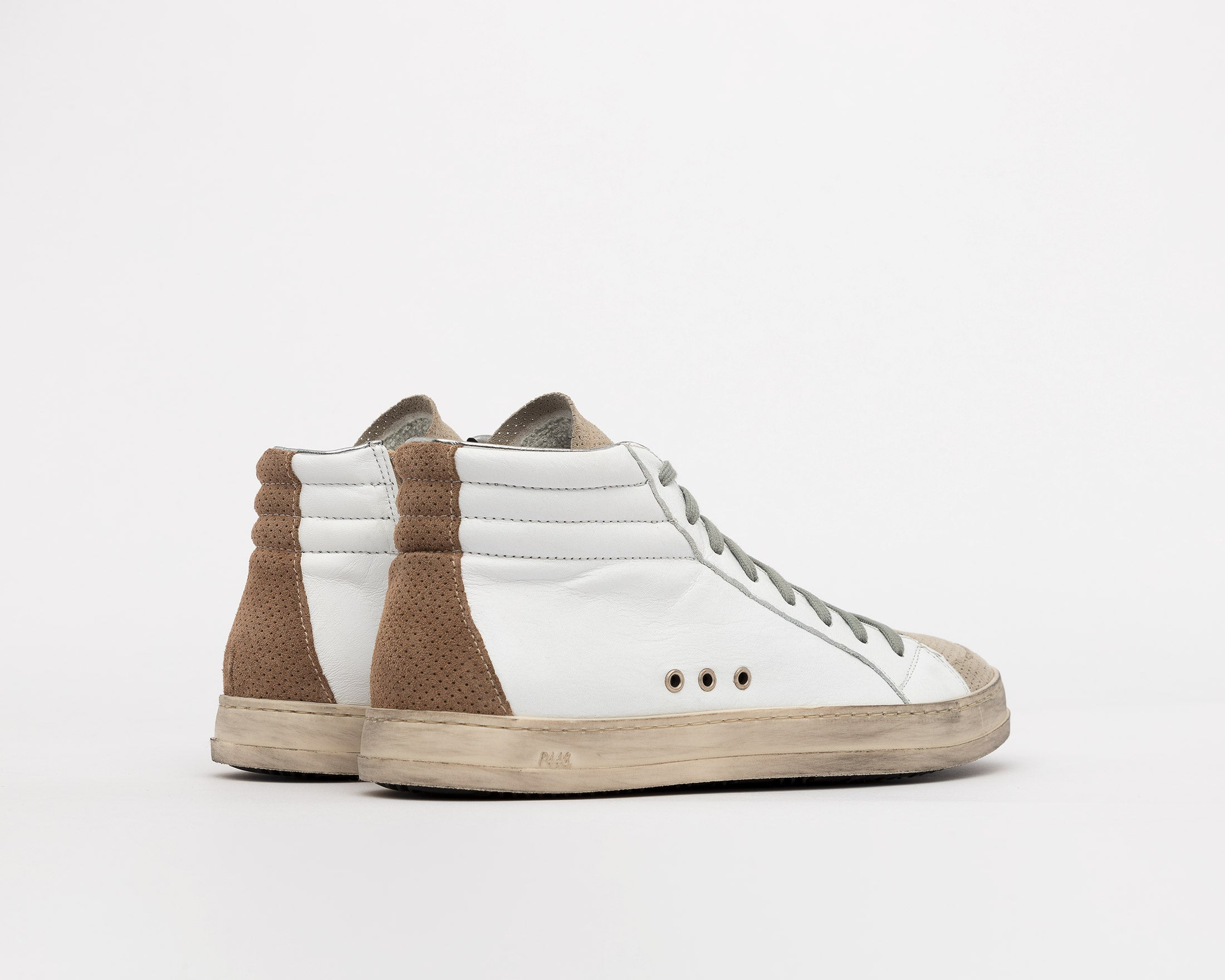 Skate High-Top Sneaker in White/Vtab - Back