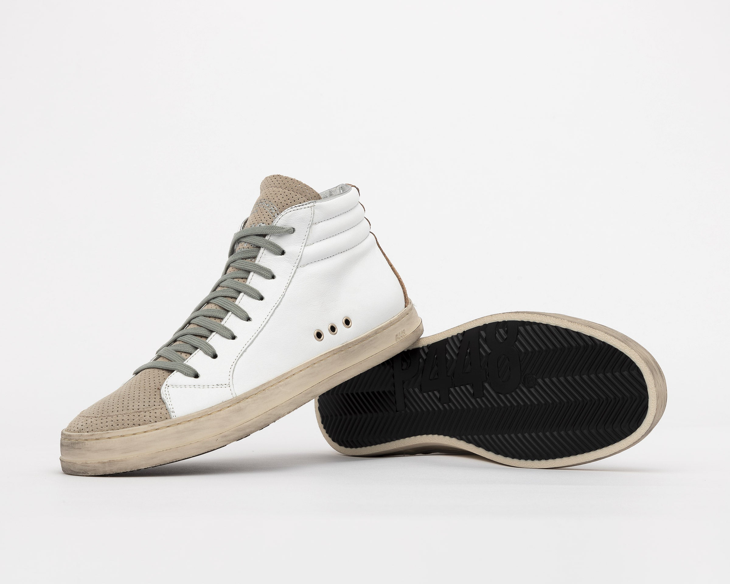 Skate High-Top Sneaker in White/Vtab - Detail
