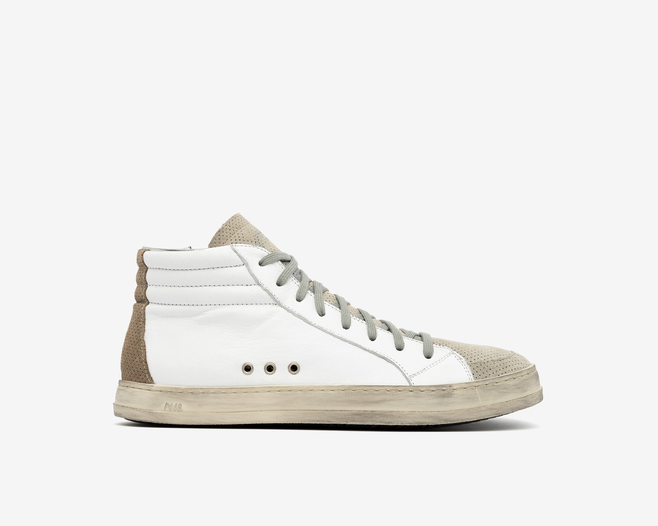 Skate High-Top Sneaker in White/Vtab - Profile