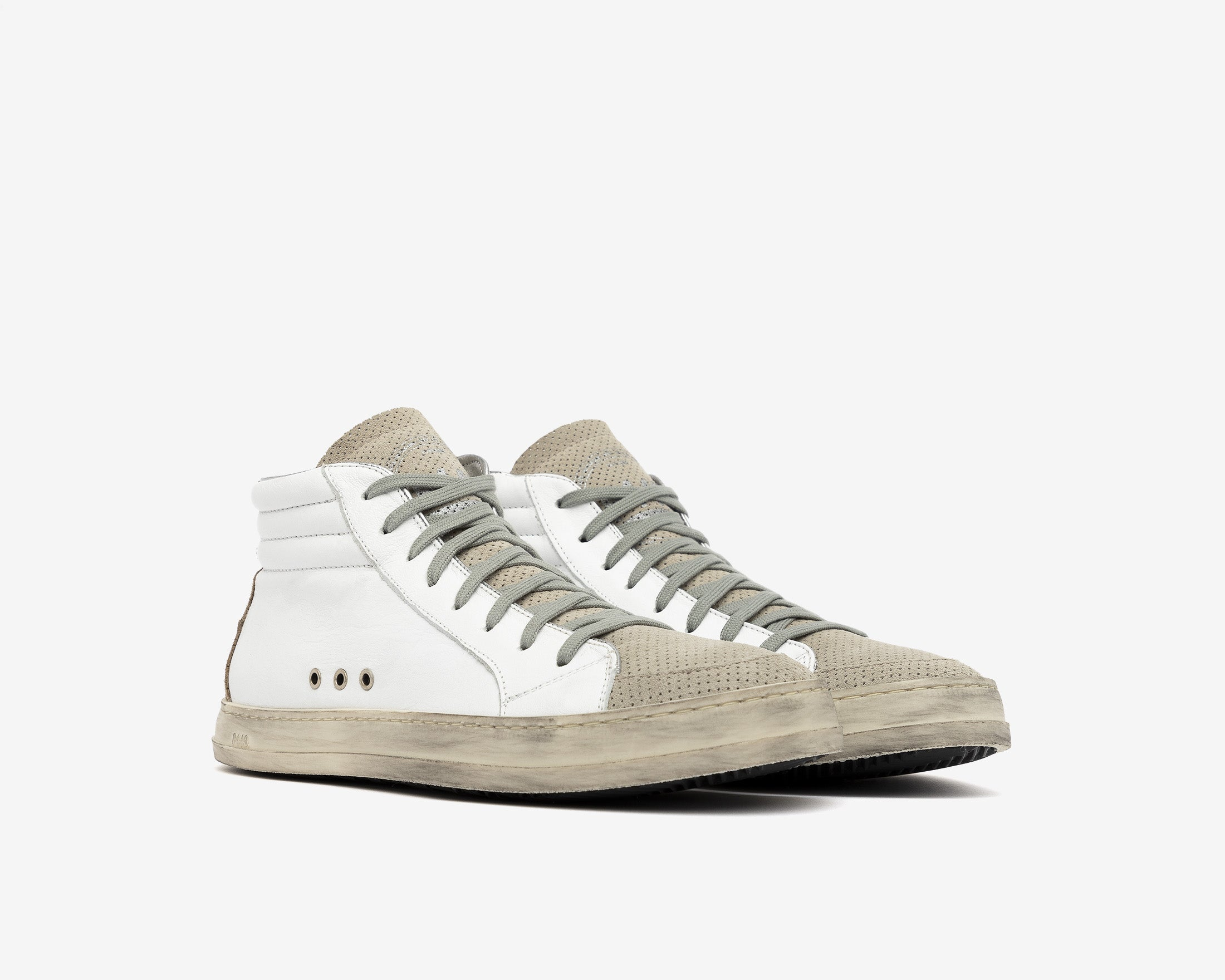 Skate High-Top Sneaker in White/Vtab - Side