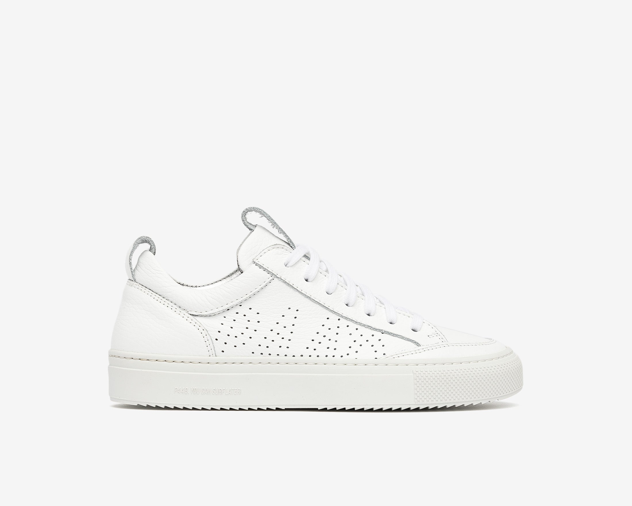 Soho Pull-on Sneaker in White - Profile