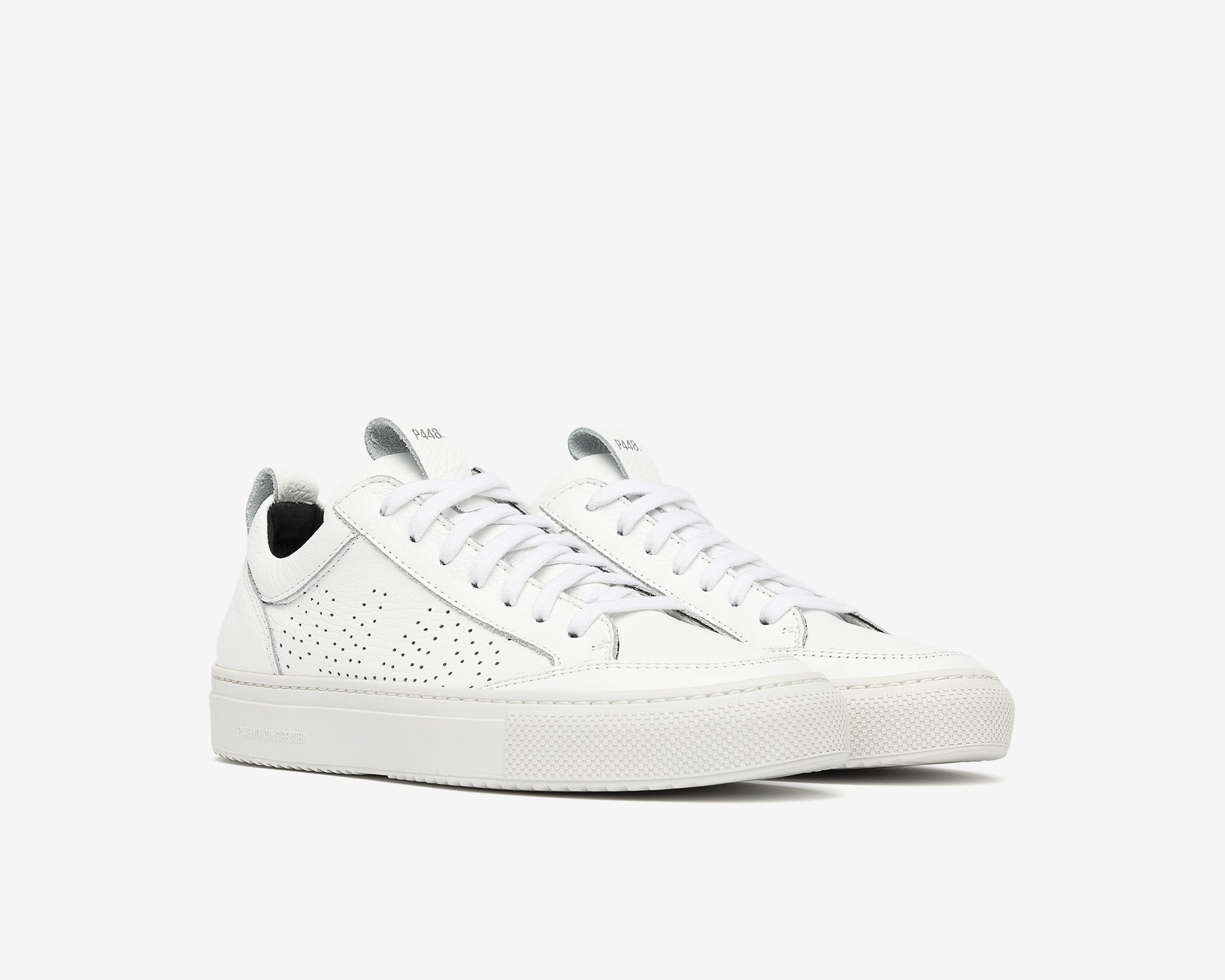 Soho Pull-on Sneaker in White - Side