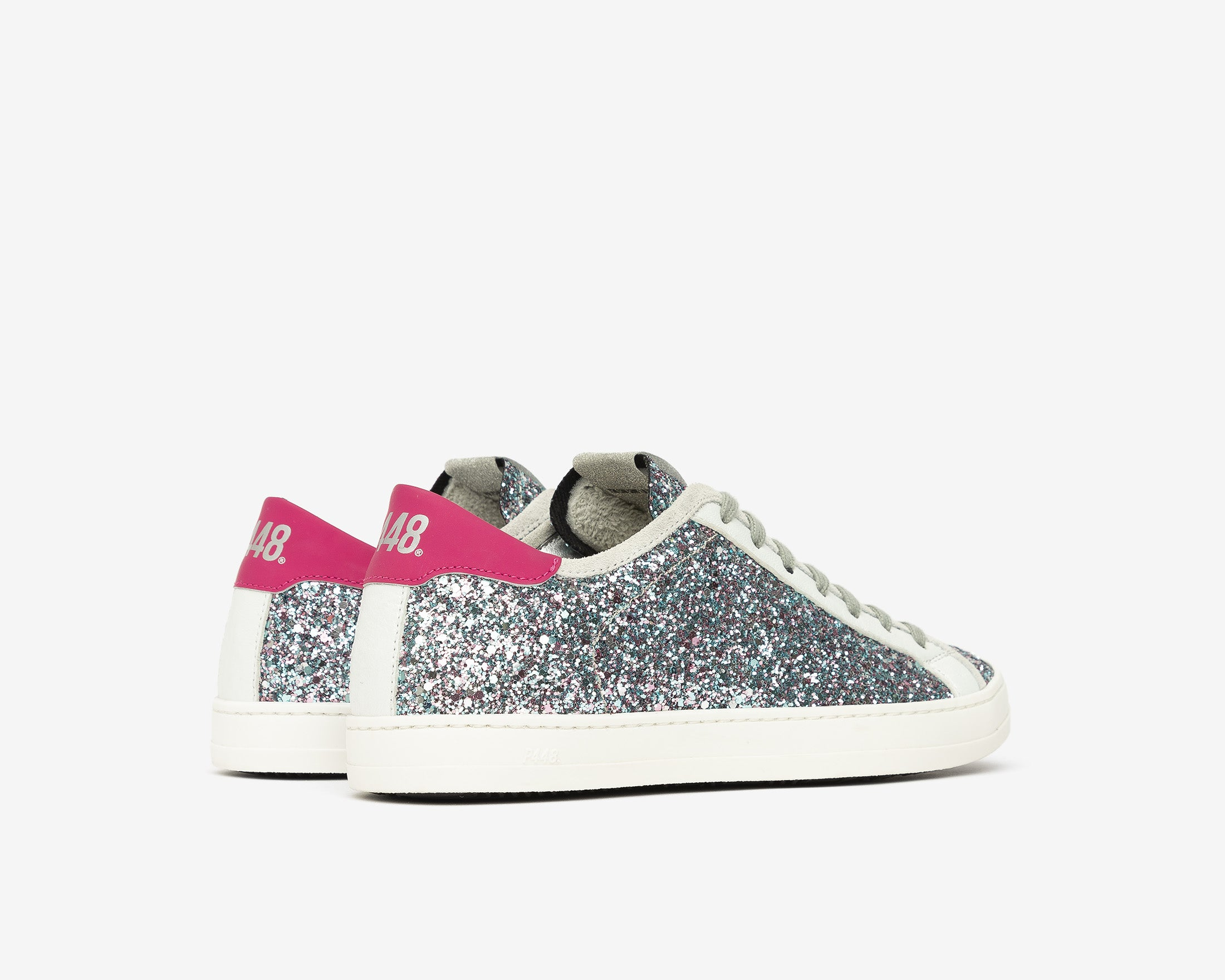 Johnny Low-Top Sneaker in LBL/Glitter - Side