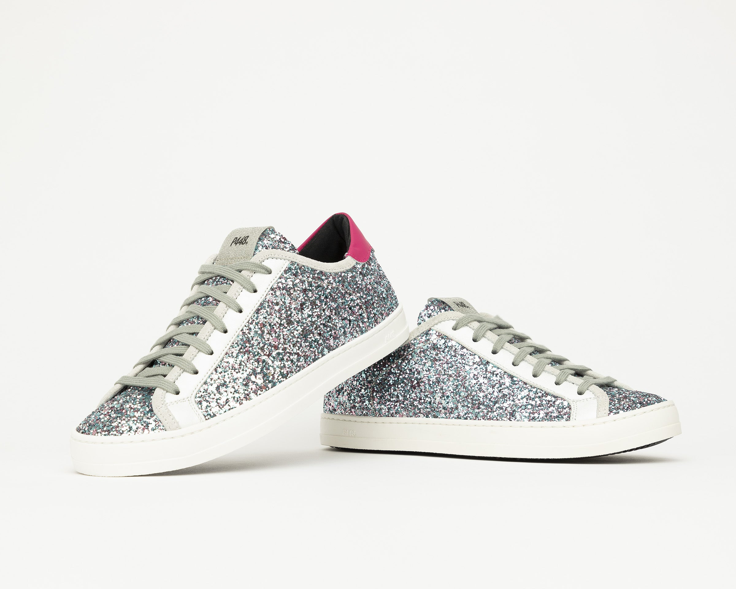 Johnny Low-Top Sneaker in LBL/Glitter - Detail