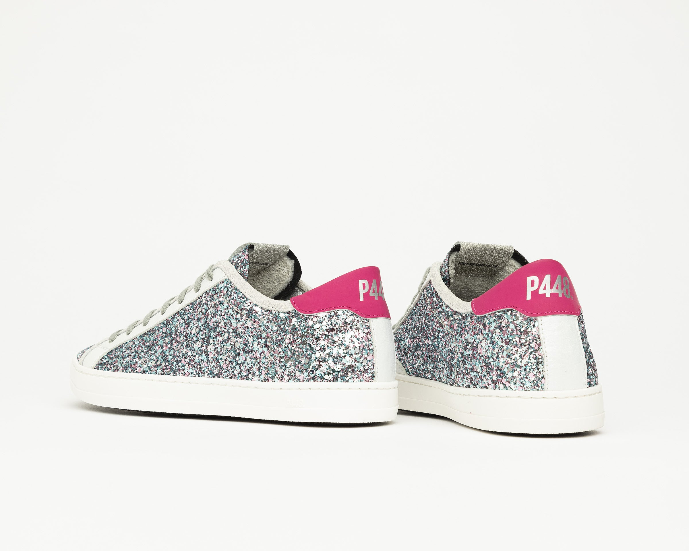 Johnny Low-Top Sneaker in LBL/Glitter - Back