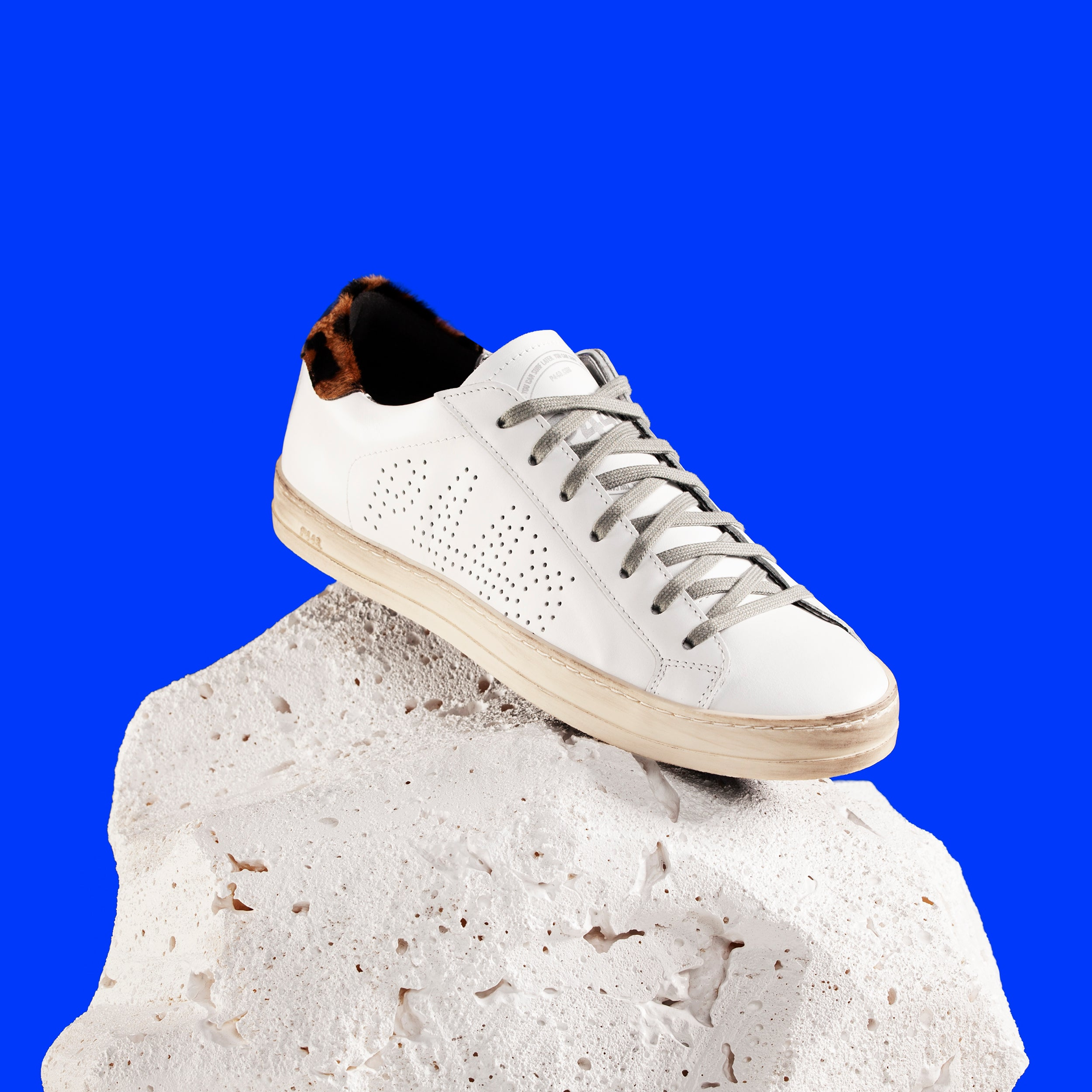 John Low-Top Sneaker in White/Cleo - Styled