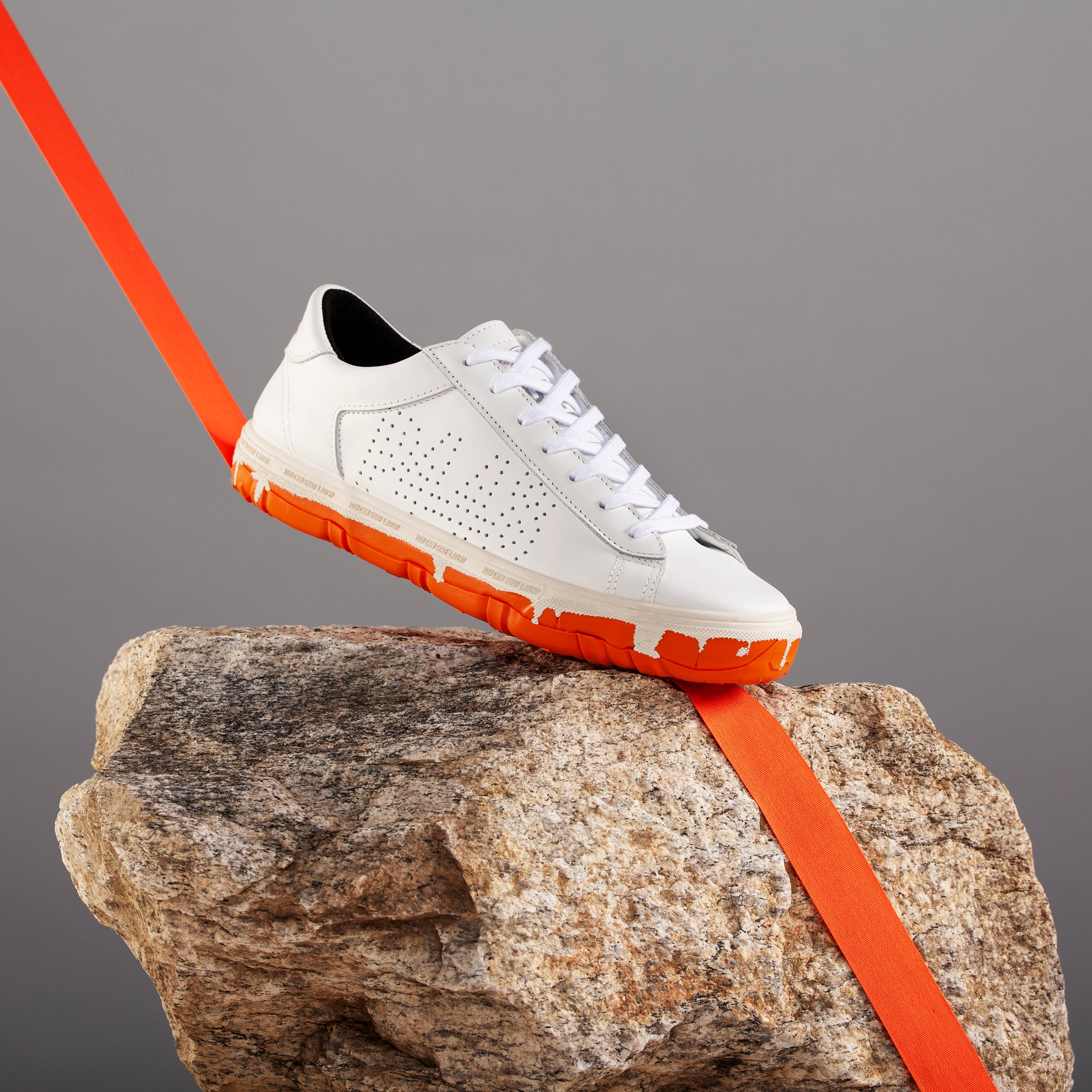 Y.C.S.L. Vibram Low-Top Sneaker in White/Orange - Styled