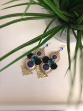 Load image into Gallery viewer, Floral Art Deco Statement Earrings