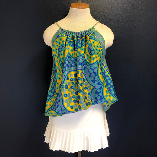 Scarf Top-Swirls