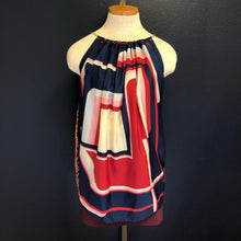 Load image into Gallery viewer, Scarf Top-Navy Block