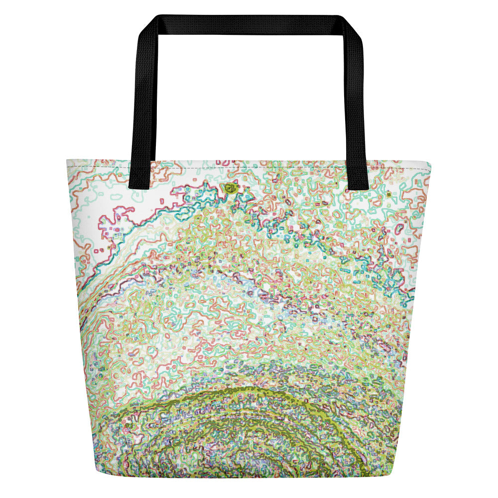 Optics - Large Tote Bag - Green