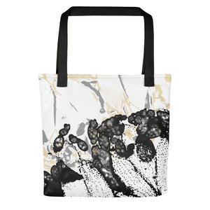 "Tote bag, ""Maturation - Black/Gray"""