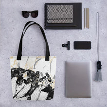 "Load image into Gallery viewer, Tote bag, ""Maturation - Black/Gray"""