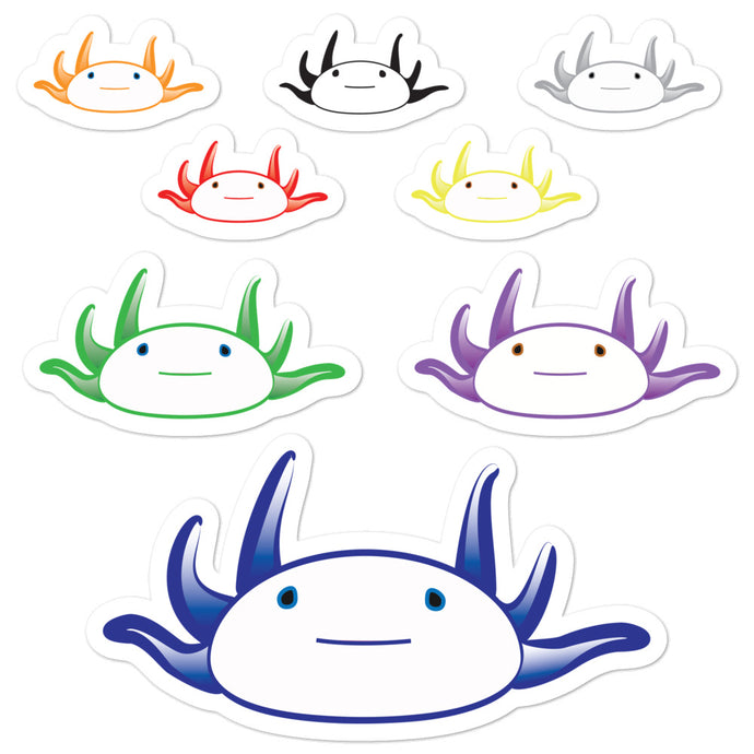 Axolotl Stickers - Bright-BioScience Art