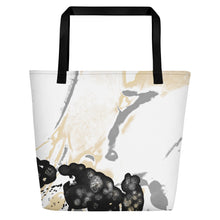 "Load image into Gallery viewer, Beach Bag, ""Maturation - Black/Gray"""