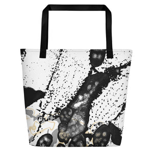 "Beach Bag, ""Maturation - Black/Gray"""