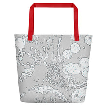 "Load image into Gallery viewer, Beach Bag, ""Progression - Gray"""