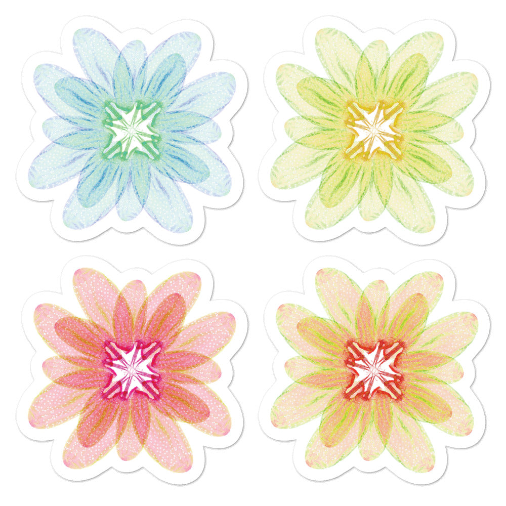 Flower Stickers - Drosophila Melanogaster, Oocyte - Multipack Stickers