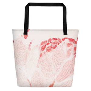 "Beach Bag, ""Production - Raspberry"""