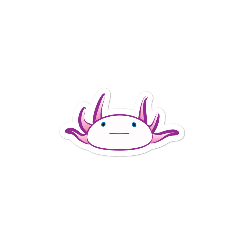 Axolotl Sticker - Magenta-BioScience Art