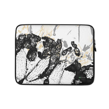 "Load image into Gallery viewer, Laptop Sleeve, ""Maturation - Black/Gray"""