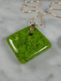 handmade murrini glass pendant