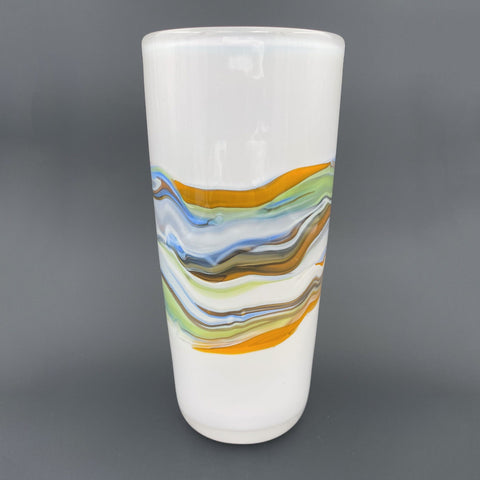 contemporary glass vase