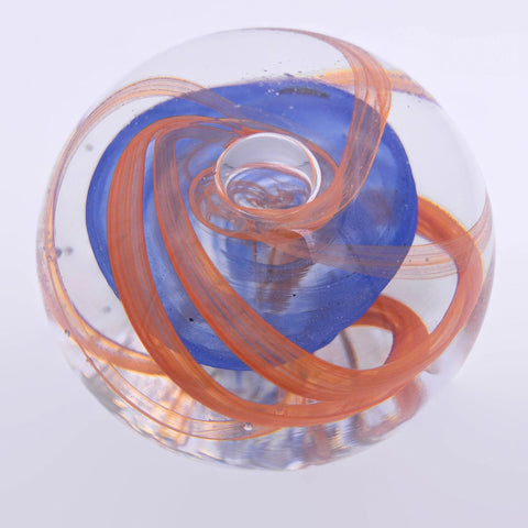 furnace glass scultped paperweight