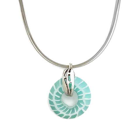Aqua Glass Statement Necklace