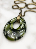 handmade murrini glass necklace