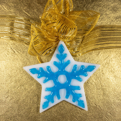 white star tree ornament