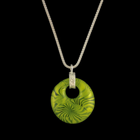 Spring Green Fused Glass Pendant