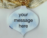 personalized fused glass ornament