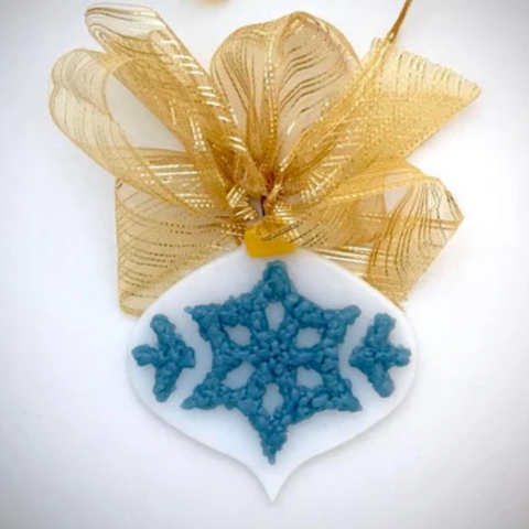 fused glass ornament