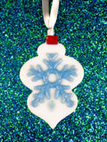 personalized retro snowflake ornament