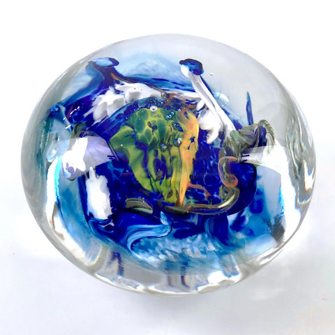 multicolor furnace glass paperweight
