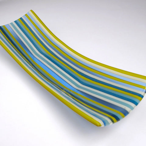 Striped Glass Plate