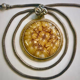 echo glass works amber glass necklace