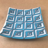 fused glass dish