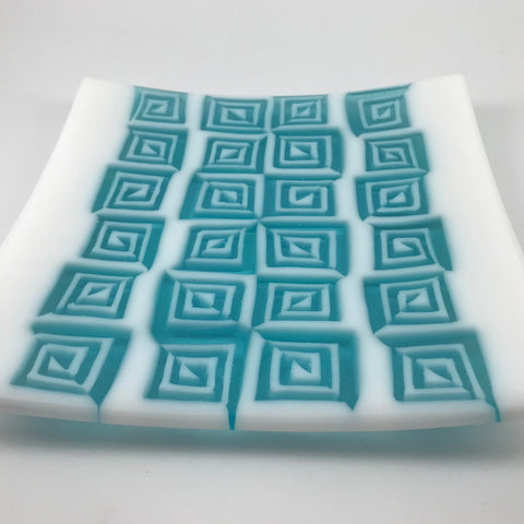 Square Fused Glass Plate